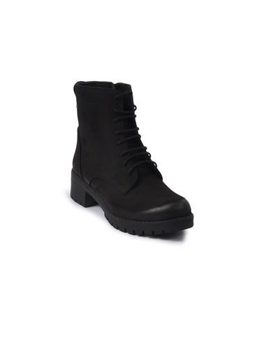 Castle Black 3680-2 Siyah Kadın Bot Siyah